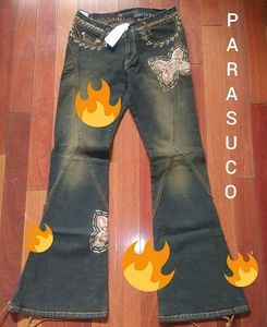 Parasuco | Vintage Beaded Waistless Jeans Blue